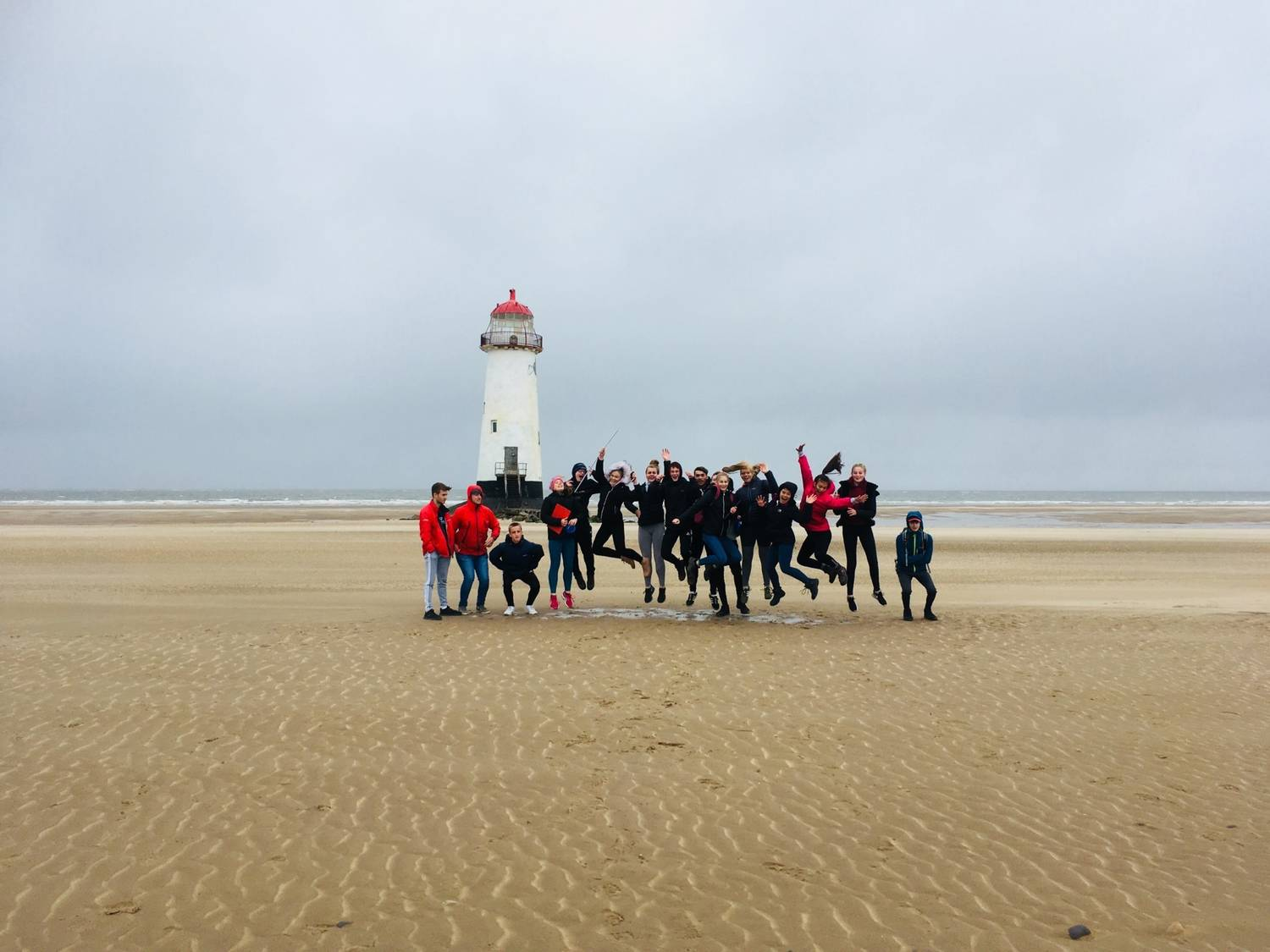 AS Level geography students at Talacre Beach